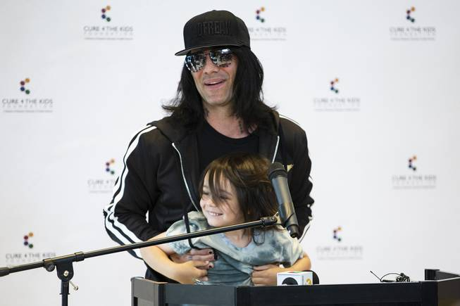 Criss Angel at Cure 4 Kids Foundation
