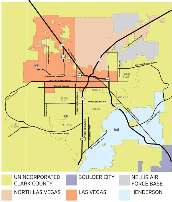 clark county map nevada Las Vegas Vs Clark County There Are Differences Between Living clark county map nevada