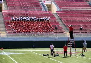 UNLV Rebels and coaches pose for a team photo during ...