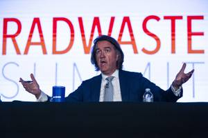 Colin Jones, Vice President and Deputy General Manager of JACOBS speaks during the Radwaste Summit at Green Valley Ranch in Henderson Tuesday, Sept. 3, 2019.