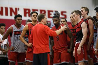 In the time it takes to read this sentence, T.J. Otzelberger wants UNLV to score in transition. The Runnin' Rebels' new head coach is determined to play fast this season ...