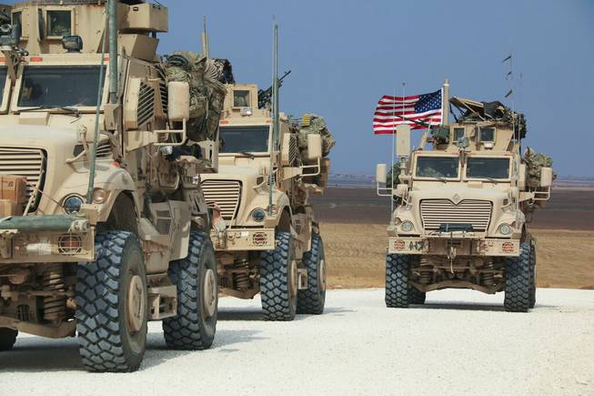 American military convoy