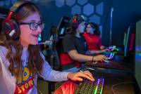 "As they played the popular video game ""Fortnite"" at the HyperX Esports Arena on Wednesday, middle schoolers Sasha Lira and Ruby Ramirez didn't seem especially interested in pursuing careers in esports. The fact that neither eighth-grader expressed interest in ..."