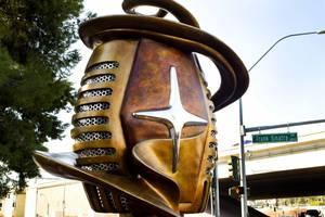A 15-foot-tall, spiraling public art sculpture called