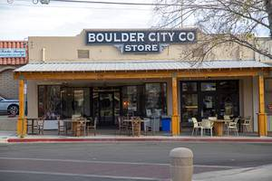 An exterior view of the the Boulder City Company Store ...