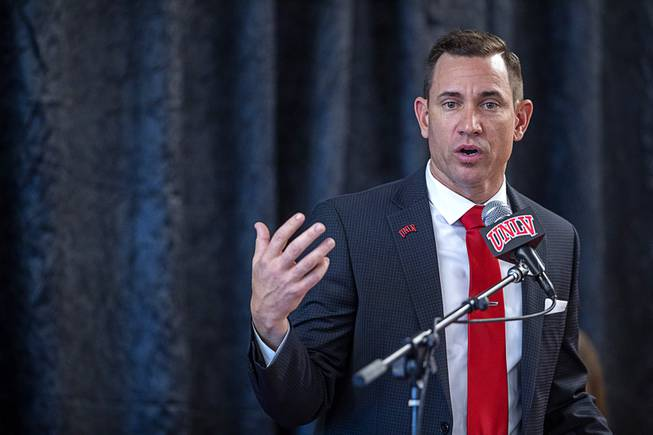 Marcus Arroyo introduced as UNLV football coach: 'We will win'
