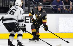 Vegas Golden Knights right wing Reilly Smith (19) skates against ...