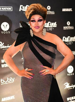 Shannel appears on the red carpet before the world premier of RuPauls Drag Race Live! Thursday, January 30, 2010, at the Flamingo in Las Vegas.