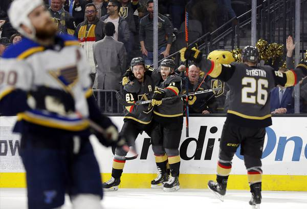 Golden Knights' power-play success fuels overtime win against Blues