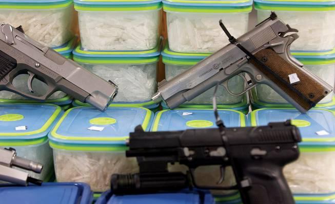 Drug bust guns