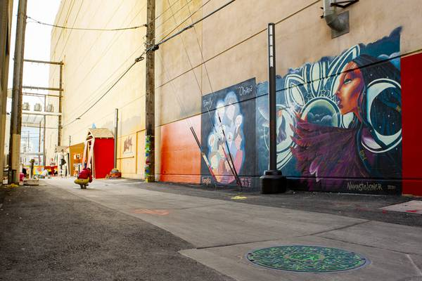 Downtown Las Vegas First Alley Revitalization Project Debuts Today Las Vegas Sun News