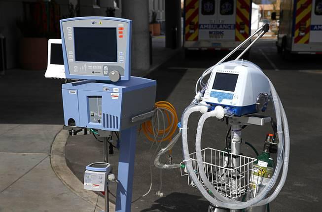 Ventilators at Sunrise Hospital