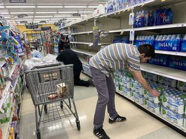 "The hoarding that left Nevada's grocery and retail stores with bare shelves on some aisles and limited supplies on others appears to be letting up, a representative of the Retail Association of Nevada said Wednesday. News flash: Even toilet paper has been sighted. ""I can tell you that the supply chain is filling in gaps as ..."