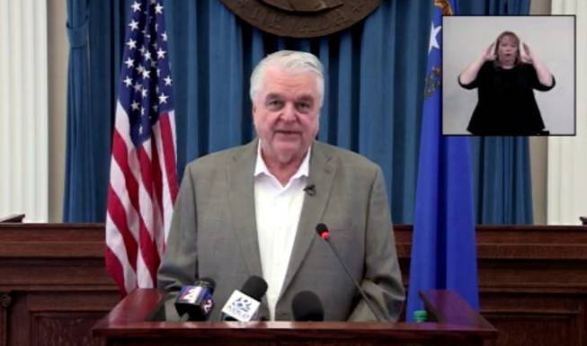 Sisolak Details Path Forward To Restart Nevada Under New Normal