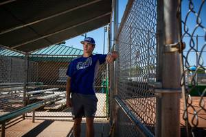CSN sophomore and Silverado High School grad Dax Fellows poses for a portrait at Desert Bloom Park, Tuesday May 19, 2020.