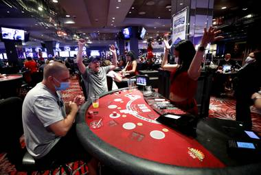Nevada casinos reopened at 12:01 a.m. after nearly 80 days of state-mandated closures to limit the spread of the coronavirus. Finally, for the first time since March 18, the slot machines are spinning and cards flying ...
