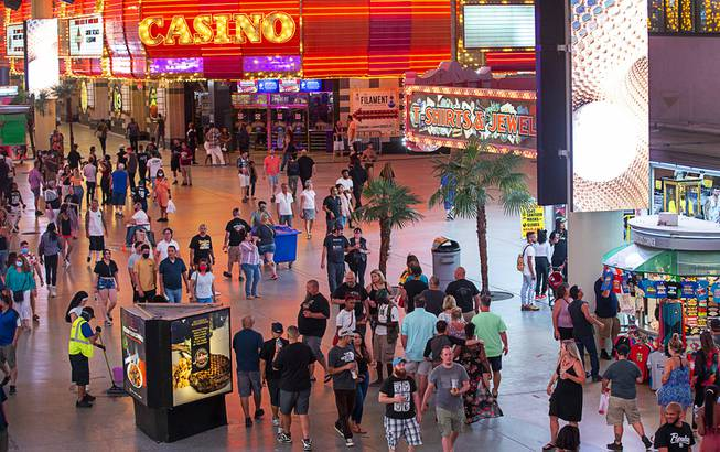 Tourists Return to Fremont Street Experience