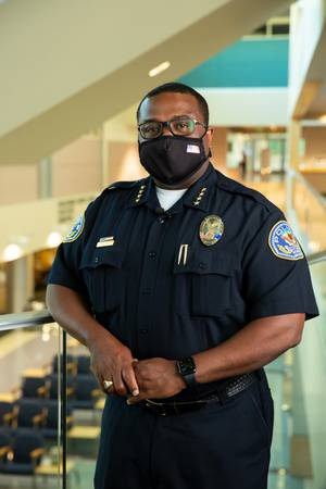 Henderson Police Chief Thedrick Andres poses for a photo, Tuesday July 21, 2020.