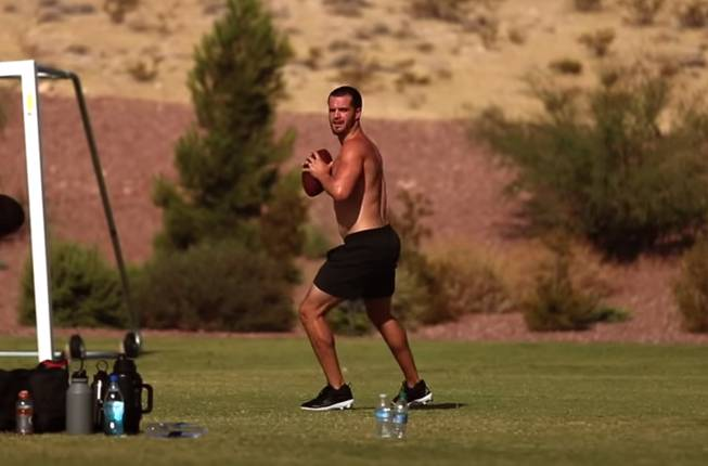 Raiders Derek Carr Training in Las Vegas