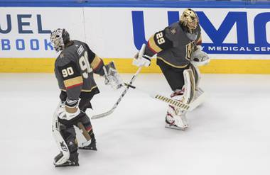 Robin Lehner has a .918 save percentage and three shutouts. Marc-Andre Fleury is at .910 with just one loss. Lehner may be getting the majority of starts these days, but both have proven themselves more than able when called upon ...