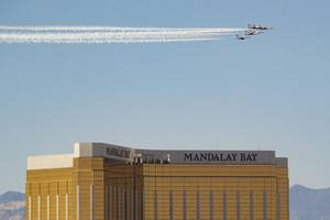 Thunderbirds Fly Over Vegas