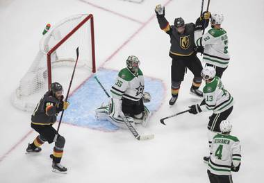 Sometimes all it takes is one goal to get the offense rolling. A Vegas forward had not scored against a goalie in more than a week entering Tuesday's Game 2 of the Western Conference Final against the Stars ...