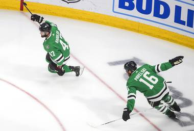 Twice, the Golden Knights scored to tie the game in the third period on Thursday. Twice, they scratched and clawed, firing puck after puck at the net to pull even with the Dallas Stars in the Western Conference Final.  They controlled the third period to earn ...