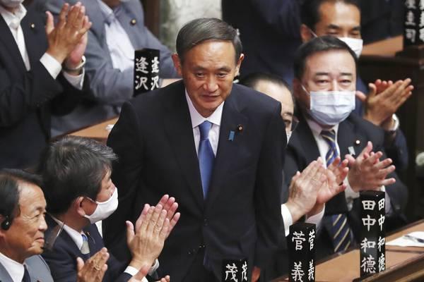 Yoshihide Suga named Japan`s prime minister, succeeding Abe