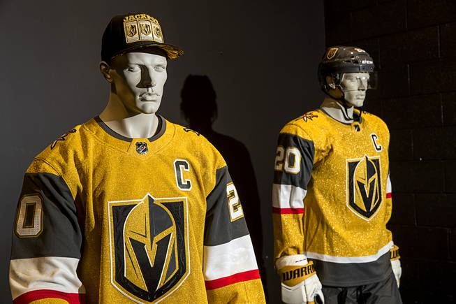 You Ll Know Vegas Is On The Ice Golden Knights Unveil Golden Uniforms Las Vegas Sun Newspaper