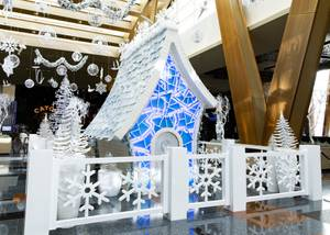 Aria Resort & Casino unveils a life-size sugar palace as part of their Winter Wonderland Display Friday, Nov. 20, 2020.  The palace was created by the MGM Resorts event production team, which was led by Netflix's Sugar High champion Executive Pastry Chef Mathieu Lavallee.