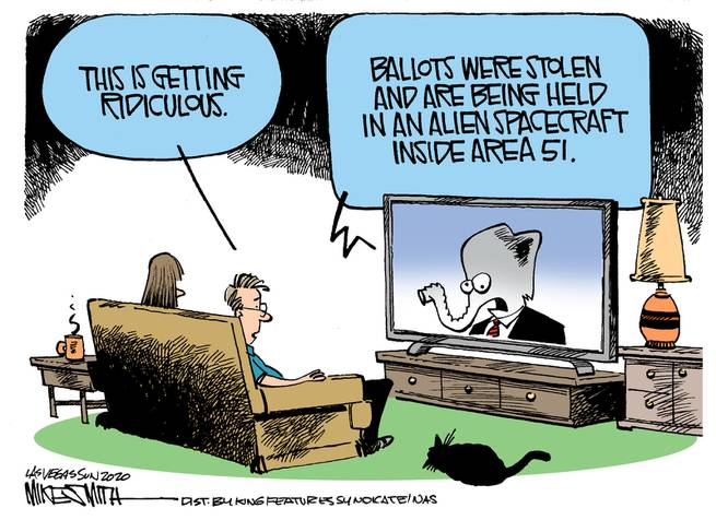 Family watching television, as Republican Elephant says,