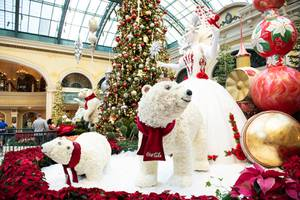 Bellagio Conservatory's Annual Holiday Display