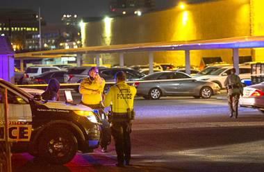 Two people were slain in a shooting at an apartment complex Friday evening just east from the Las Vegas Strip, according to Metro Police. Multiple people called 911 about 5:30 p.m. to report a barrage of gunfire at ...