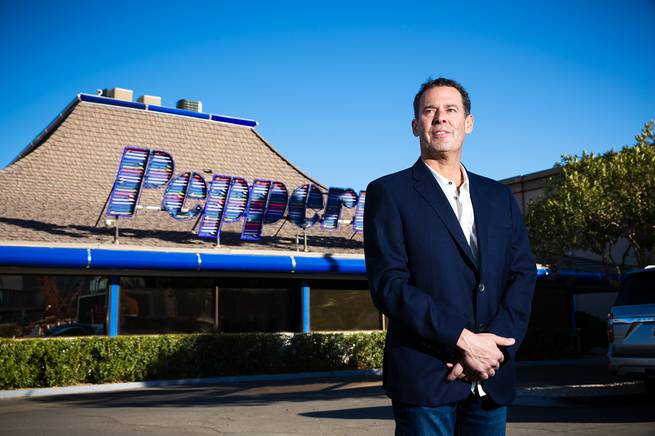 Lorenzo Doumani, local resort developer and business owner, poses for a photo in front of the iconic Peppermill restaurant Monday Jan 18, 2021.