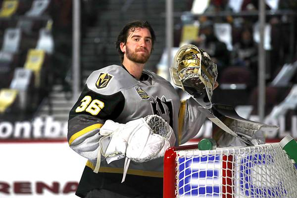 Silver Knights goalie works his way from unknown to AHL star