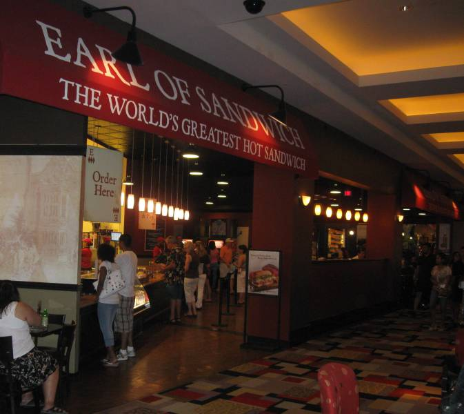 Earl of Sandwich at Planet Hollywood