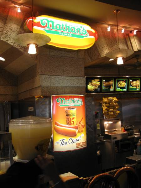Nathan's Famous Hot Dogs at New York-New York