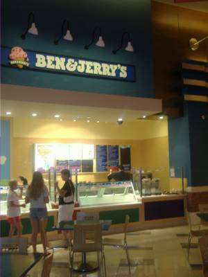 Ben & Jerry's inside Red Rock
