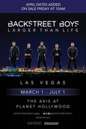 Enter to win tickets to Backstreet Boys at The AXIS at Planet