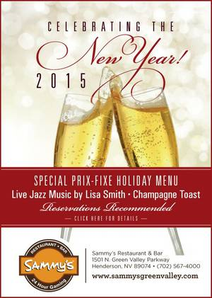 Win a free New Year's Eve dinner for two at Sammy's Green Valley!