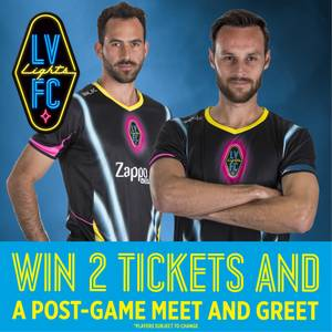 Enter to win Las Vegas Lights FC Tickets and Meet & Greet