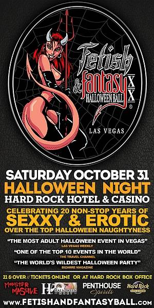 Enter to win two tickets to Fetish and Fantasy Halloween Ball at the Hard Rock