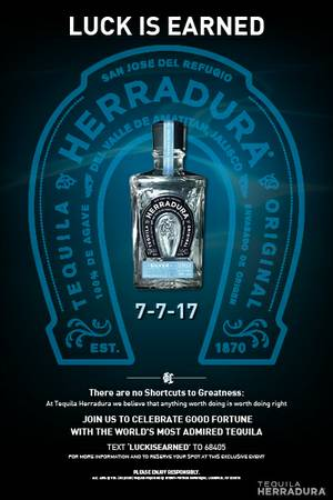 Enter to win VIP access to Herradura's Luck is Earned Pool Party