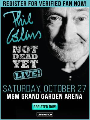 Enter to win tickets to see Phil Collins in Las Vegas