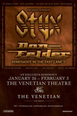Enter to win tickets to see Styx and Don Felder at The Venetian Las Vegas