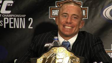 Georges St-Pierre gives new meaning to GSP, defeating B.J. Penn by TKO Saturday night at the MGM Grand Garden Arena.