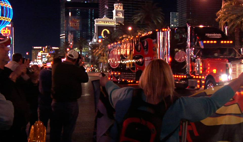 NASCAR Hauler Parade on the Strip