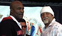 Heavyweights Evander Holyfield and Frans Botha preview their title fight.