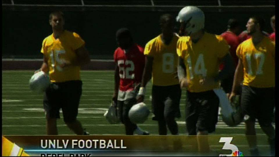 UNLV holds first day of football practice