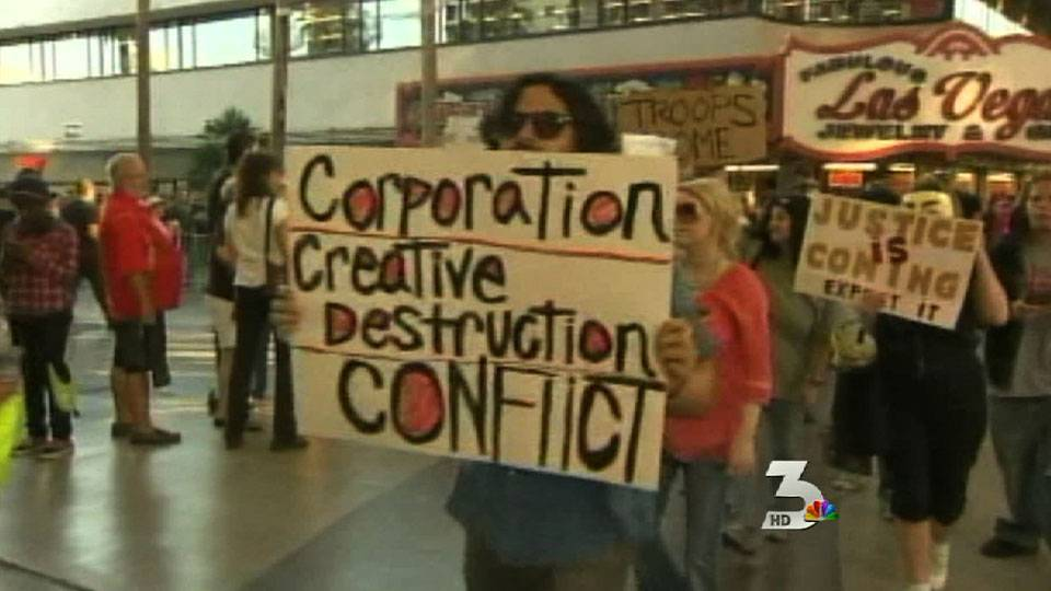 Occupy Las Vegas hits Fremont Street